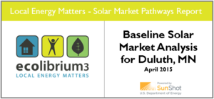 Baseline Solar Market Analysis for Duluth, MN