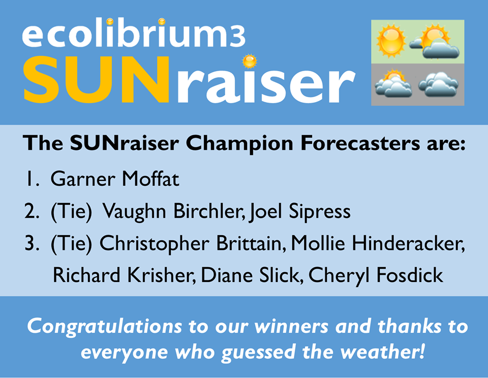 Ecolibrium3 SUNraiser Champion Forecasters graphic