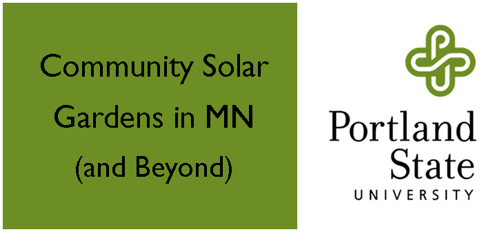 Community Solar Gardens in Minnesota graphic