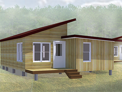 Rendering of House3 affordable housing project