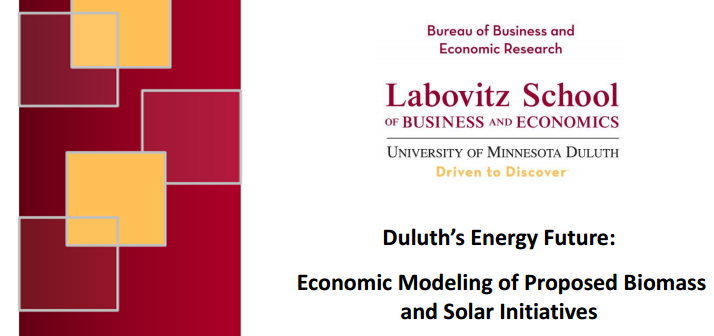 Duluth's Energy Future: Economic Modeling of Proposed Biomass and Solar Initiatives graphic